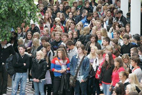 FLERE ELVERE: UiT ser en oppgang i årets søkertall. Bildet er fra studiestart i 2008. Foto: Torgrim Bratt Olsen.