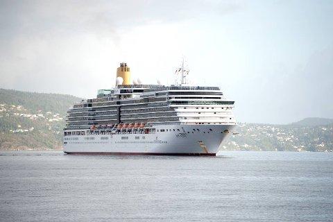 Et av flere cruiseskipen som anløp Bergen i sommer.