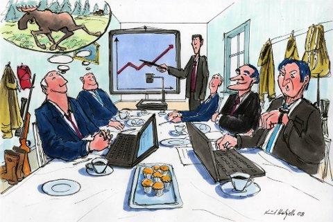 STEINRIK JAKT: Investor Øystein Stray Spetalen har en plan for skogeiendommene i Namdalen. - Poenget er å få tak i noen rike folk som kan bruke masse penger der oppe, sier han til Adressa - og legger til at kraftproduksjon og eksklusiv elgjakt blir satsningsområder.