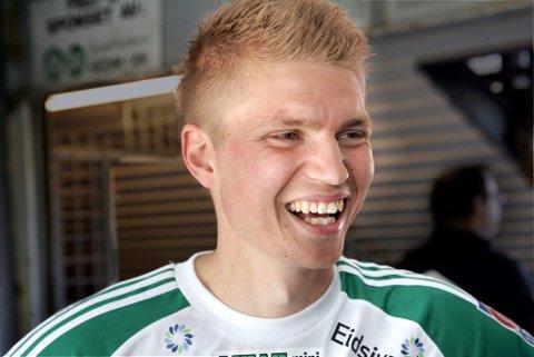 Smørblid solung: Tore Andreas Gundersen etter at HamKam slo KIL lørdag.