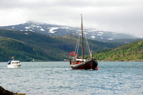 Gjertrud av Ranen under en tidligere ferd. Nå venter Bergen.