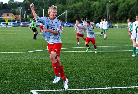 Sondre Hjertaas scoret det ene målet da Greåker vant 3-2 over Mysen 2 fredag kveld. Dette bildet er fra en kamp i 2011-sesongen. (Arkivfoto)