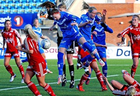 Andrea Thun satte inn den andre scoringen i kampen mot Grand Bodø. (Foto: Mats Duan)