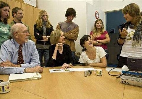 Stadig flere nordmenn velger å studere i utlandet. Her fra universitetet i Praha.