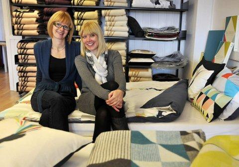 Det er fortsatt flest kvinner som handler tekstiler til hjemmet, men tilbakemeldinger fra butikkene røper at nesten halvparten av Funkle-kjøperne er menn, sier Magnvor Lunåshaug og Bente Jørgensen.