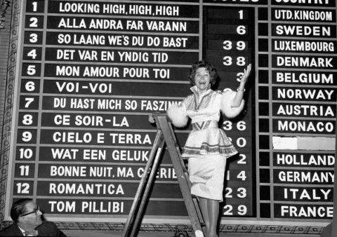 "Norge debuterte i 1960, og Nora Brockstedt sang ""Voi, voi"" til en sterk fjerdeplass."
