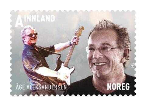 FÅR FRIMERKE: Åge Aleksandersen er en av fire norske artister som fredag får sitt eget frimerke. De øvrige er  Ole Paus, Morten Abel og Sondre Lerche.  FOTO: POSTEN NORGE