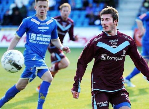 EN GANG: Tom Erik Breive og Sarpsborg 08 blir å se på fjernsyn i oktober mot Bodø/Glimt. (Foto Mats Duan)