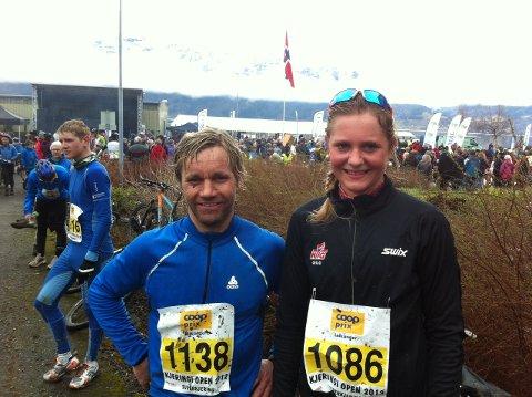 SUPERKJERINGAR: Jonny Øvrebø og Bertine Thorsnes Lefdal.