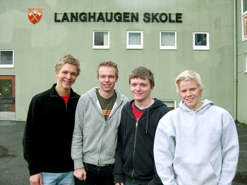 Tobias Martens, Børge Mastberg, Sondre Aasen Aukland og Daniel Nygård innrømmer at de er spente på hvordan det går i Holberg-finalen på onsdag.
