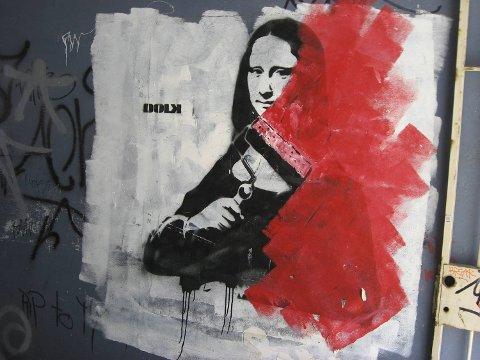 """- Bergen har jo den mest anerkjente street art-kunstneren i Norge, Dolk, sier redaktøren bak boken """"Street Art Norway""""."""
