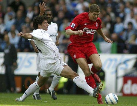 FOTBALLTUR: I vinter kan du fly direkte fra Rygge til Liverpool for å se på Steven Gerrard og de andre stjernene som er hjemmehørende i klubbene i nord-England.