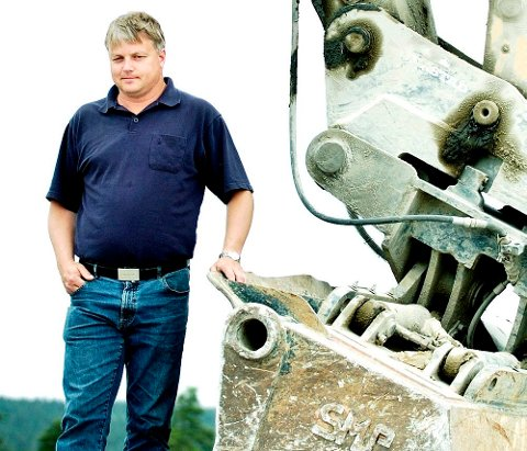 Martin Johannes Grimsrud troner på inntektstoppen i Halden i 2011. Arkiv.