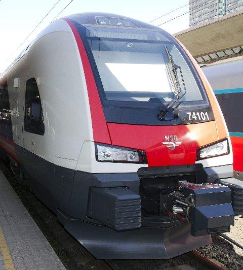 PRISET: Det nye Flirt-toget har allerede fått flere priser både for design og utforming.