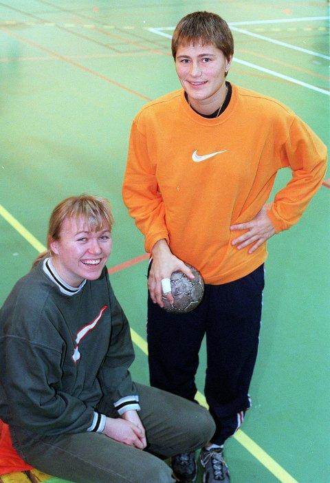 Mye tid med Anja: Anja Andersen har betydd mye for Leganger opp gjennom. Etter tiden i Bækkelaget spilte Leganger i flere år under Amdersemn som trener i dansk håndball.