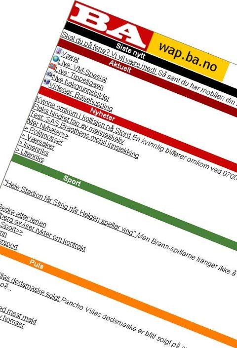 Fra wap.ba.no (20.06.2006).