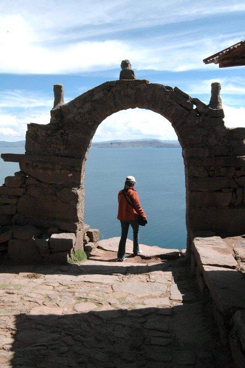 Taquile: Motiv fra inngangen til øya.