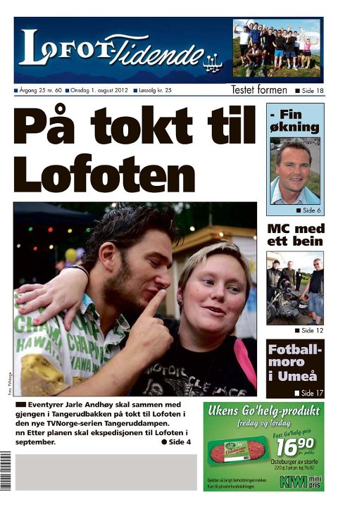 Faksimile Lofot-Tidende 1.august 2012