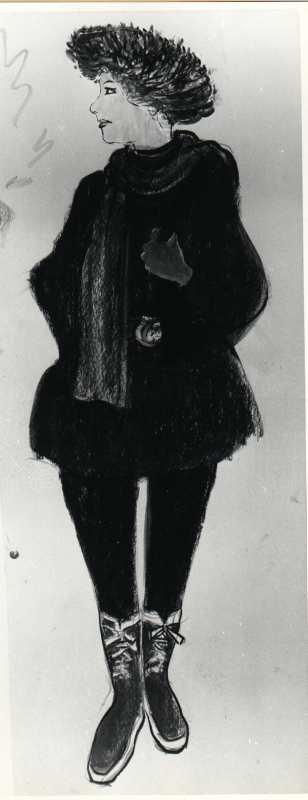 Isdalskvinnen slik hun blir presentert i media over hele landet i desember 1970.