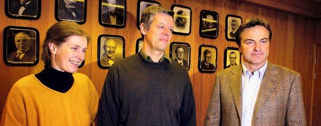 PRISSAMARBEID? Ola Mæle (til høyre) og ekteparet Anders Kiær/Anne Ulvig samarbeidet for å holde prisen på Norske Skog-eiendommene lavest mulig, hevder advokaten til to grunneiere i Røyrvik som krever at Økokrim og Konkurransetilsynet ser på saken.