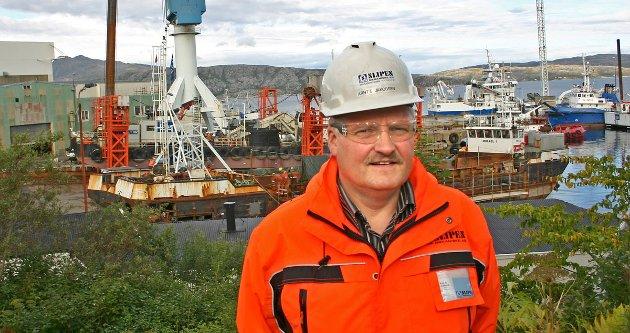 - Slipens anlegg i sentrum av Sandnessjøen er ikke tilpasset dagens og fremtidens virksomhet, fastslår direktør Arnt Jakobsen som vurderer flytting.