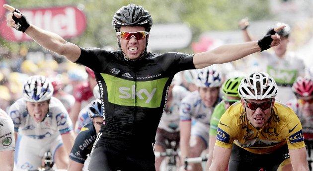 Edvald Boasson Hagen tok sin første etappeseier i Tour de France torsdag.