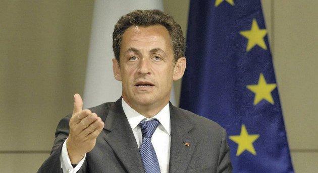 Frankrikes president Nicolas Sarkozy.