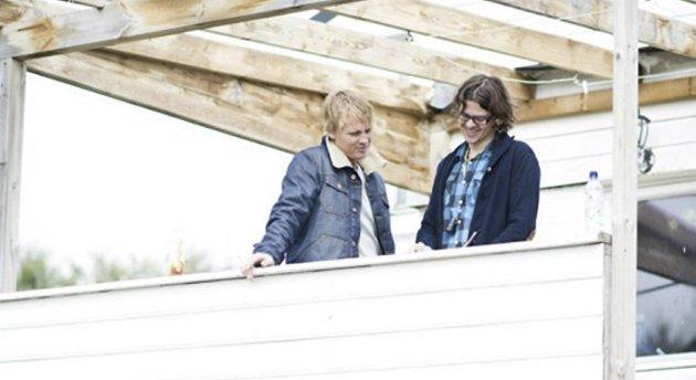 Vinni og Jon Olav Stokke under innspillingen.