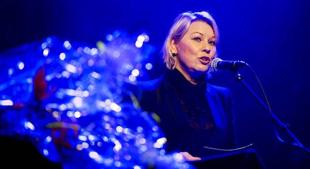 Byrådsleder Monica Mæland åpnet den nye konsertsalen med en kort tale.