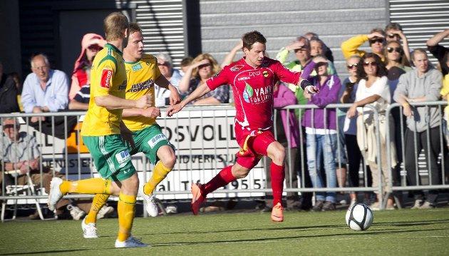 TILBAKE: Petter Vaagan Moen gjorde comeback etter skade mot Ull/Kisa i forrige uke. FOTO: LISBETH ANDRESEN