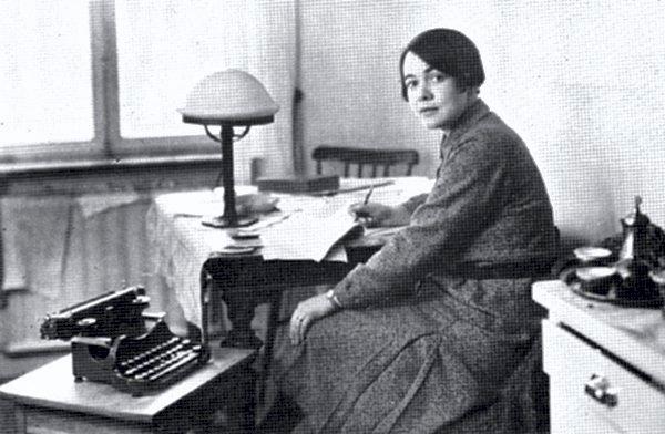 Unge Karin Boye på 20-tallet i Uppsala.