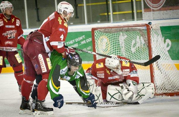 Jan Thomas Larsen og Comet tapte 3-4 hjemme mot Tønsberg i sesongens siste kamp.