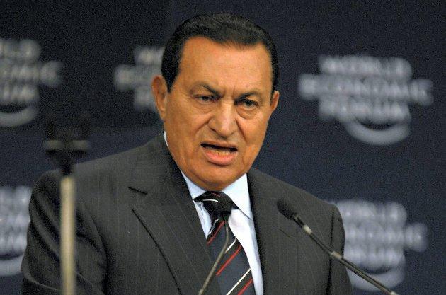 Egypts tidligere president Hosni Mubarak fikk i dag dommen.