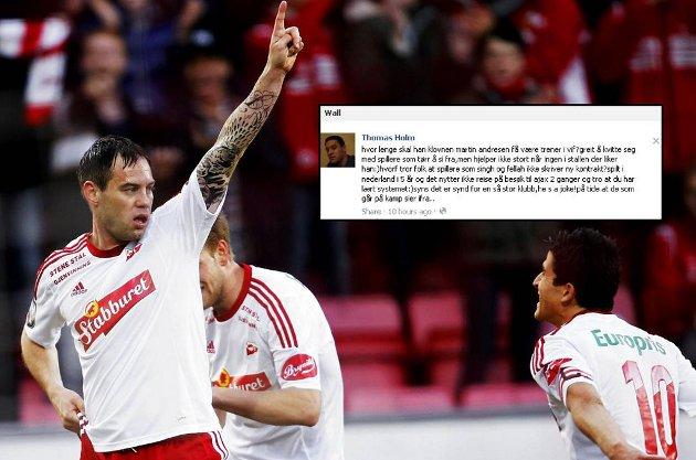 Tidligere Vålerenga-spiller Thomas Holm sparer ikke på kruttet i det han langer ut mot Martin Andresen på Facebook.