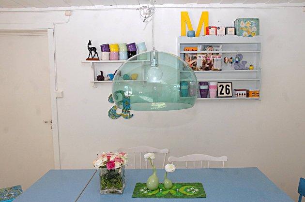 Favorittfarger: An-Magritt Moen er glad i turkis og grønt og har brukt dem som hovedfarger.