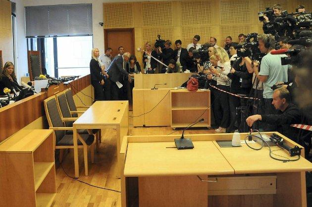 Det er stor mediainteresse rundt rettssaken mot Breivik.