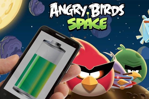 For appen Angry Birds går kun 20 prosent av strømforbruket til å vise og kjøre spillet, mens 45 prosent brukes av tredjepartsløsningen Flurry, som lokaliserer brukeren via GPS og så viser annonser som er relevante der hvor brukeren befinner seg.
