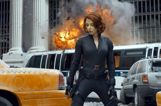 Natasha Romanoff, også kjent som Black Widow, i Joss Whedons «The Avengers» (norgespremiere fredag).