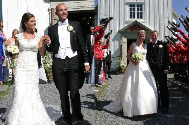 Tord Asle Gjerdalen giftet seg lørdag med Elisabeth Olimb i Jevnaker kirke, mens Maren Haugli fikk sin Runar Tufto i samme kirke samme dag.