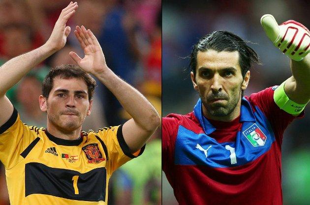 Vinneren av keeperduellen mellom Gianluigi Buffon (34) og Iker Casillas (31) får sannsynligvis løfte trofeet etter kampen.
