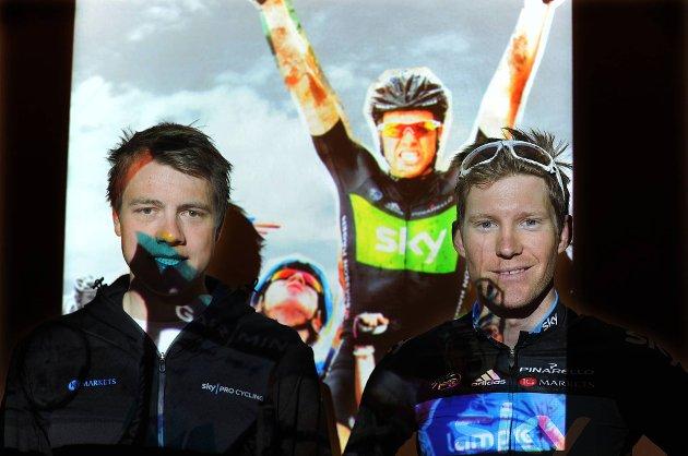 Edvald Boasson Hagen (t.v.) og Lars Petter Nordhaug er klare for VM.