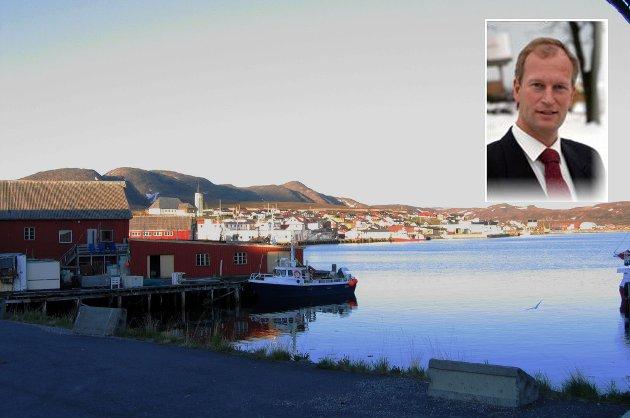 Mehamn ligger mer enn 71 grader nord, og her skal Lasse Meholm (avbildet) starte et ølbryggeri.