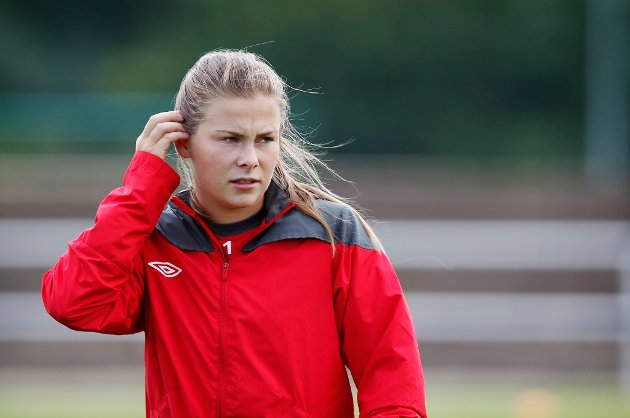LANDSLAGSSPILLER: Emilie Haavi er klar for LSK Kvinner. Hun har også spilt flere kamper for kvinnelandslaget.