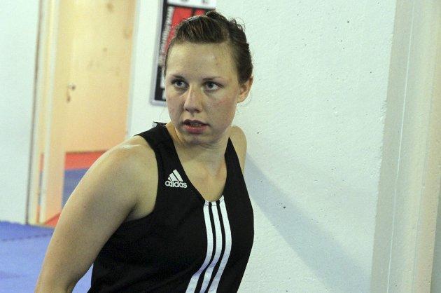 Sanna Bostad Kvaal er klar for kamp i Hell Amfi lørdag kveld.