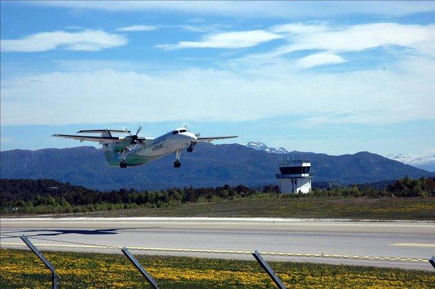 Morgenfly: Widerøe kommer fra slutten av mars med nytt morgenfly fra Kristiansund til Bergen.