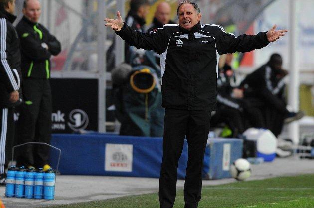 Jan Jönsson var neppe særlig fornøyd med at laget hans ikke fikk med seg tre poeng fra Lerkendal.