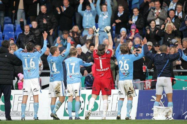 Sandnes Ulf kunne juble etter seieren mot Fredrikstad.