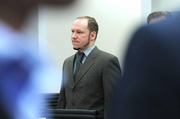 Anders Behring Breivik i Oslo tinghus.