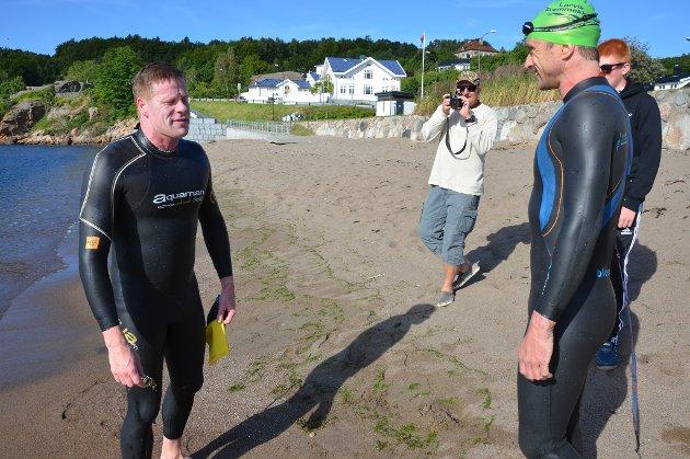 Erik Sørensen (41) fra Larvik, til høyre, og  Ronny Skaalien (32)