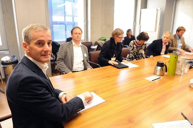 I en drøy time lyttet helseministeren til de fem medlemmene av Helsetjenesteaksjonen som deltok på møtet i Helse- og omsorgsdepartementet.